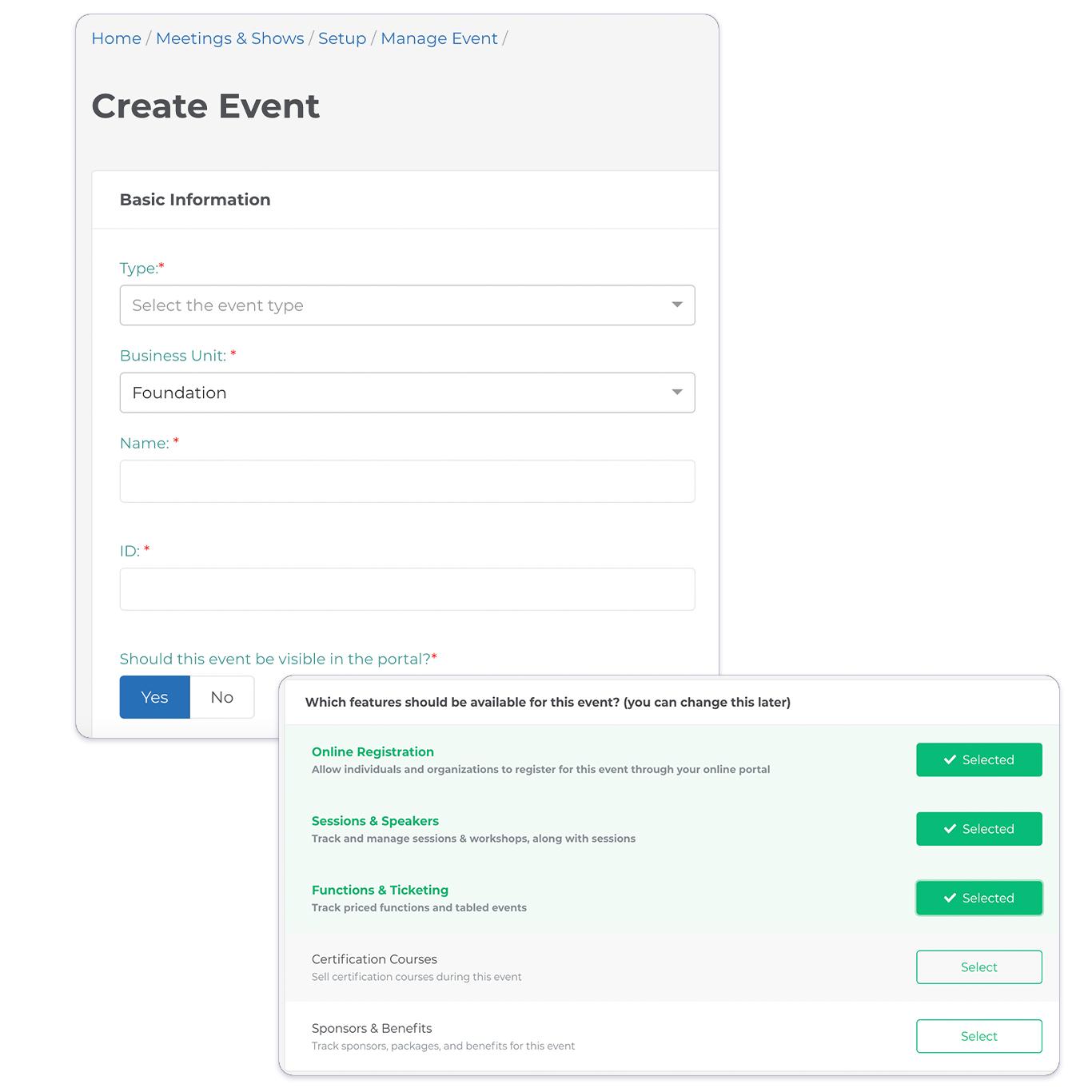 Event Setup Management _NEW