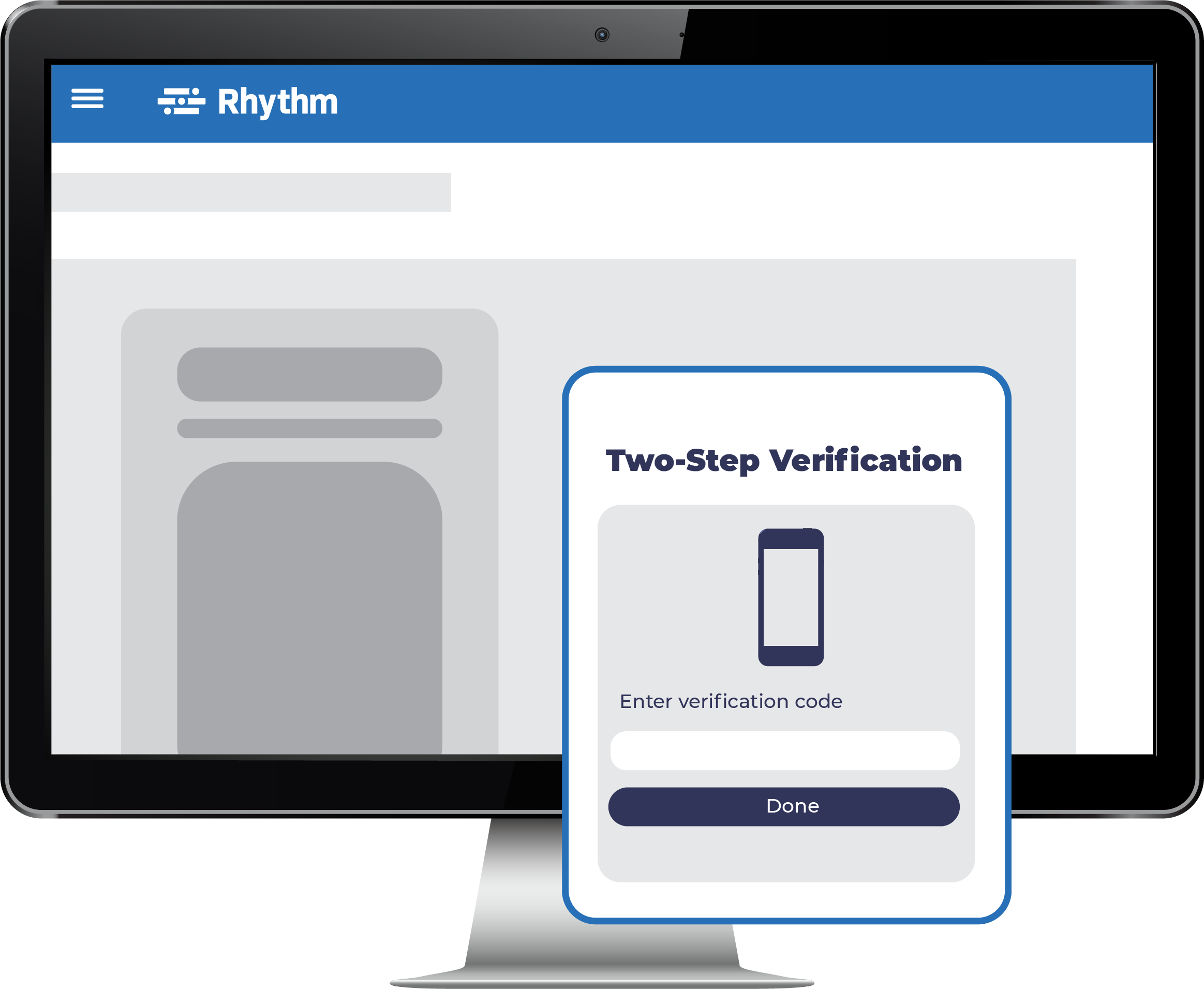 Two Step Authentication screen on desktop computer