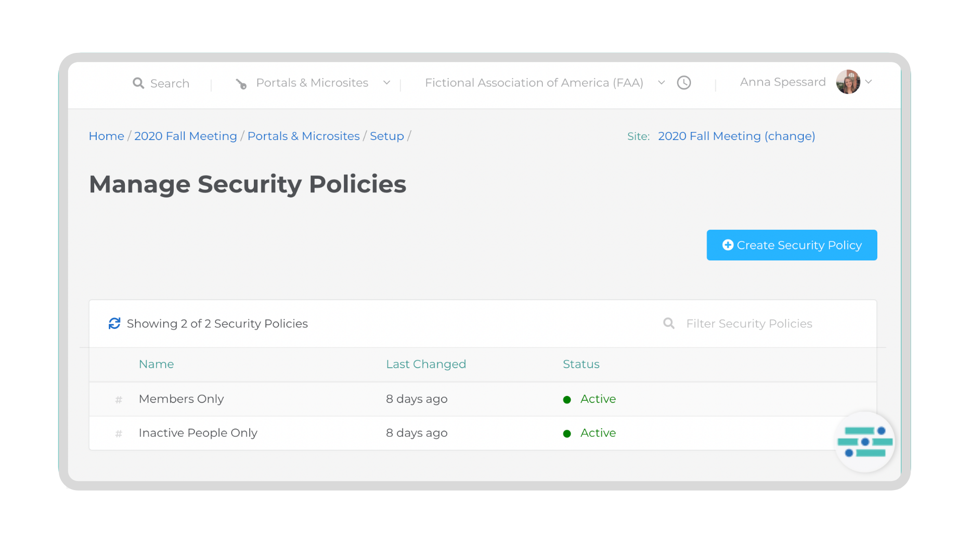 manage security policies